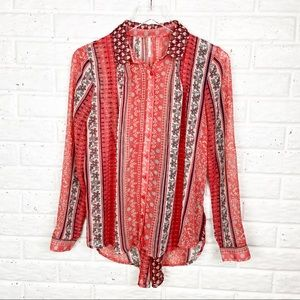 FREE PEOPLE Moonlight Mile Sheer boho top